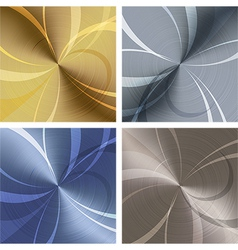 Metallic texture set vector