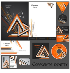 Corporate identity template no 17 1 vector
