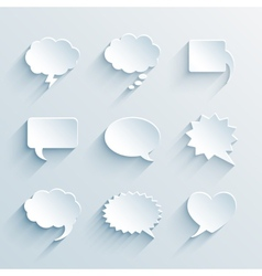empty paper white speech bubbles vector image