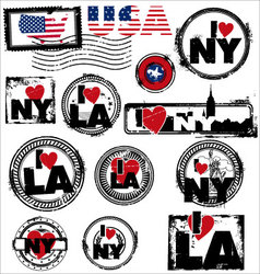 usa stamps vector image