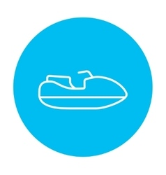 Jet scooter line icon vector