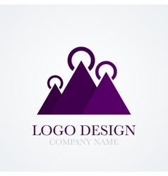 A mountains logo vector