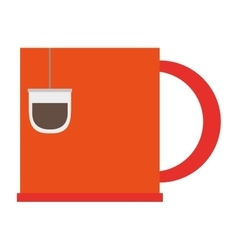 Cup tea bag vector
