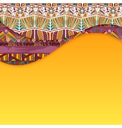 Abstract background with elements of Tribal vector image vector image