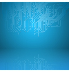 Abstract electronics blue background vector image vector image