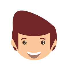 adult male head young vector image vector image