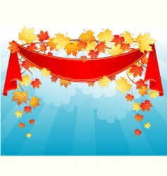 autumn ribbon vector image vector image