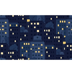 City Seamless Pattern vector image vector image