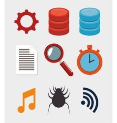 Collection data server hosting elements vector