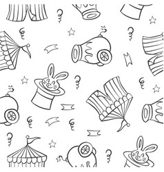 Collection element circus doodle style vector