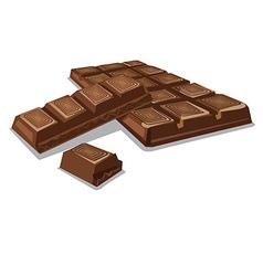 dark chocolate pieces vector image vector image