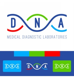 Dna logo white vector