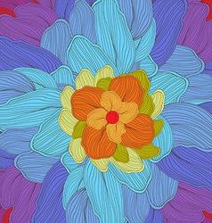 doodle florals art background vector image vector image