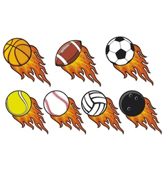 fire ball collection vector image