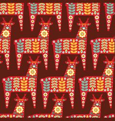 folk seamless pattern in scandinavian style vector image