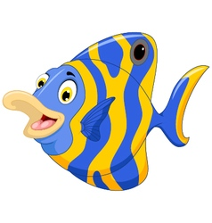 Funny angel fish cartoon vector