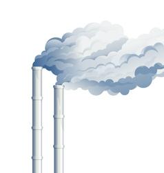 Industrial chimney smoke vector