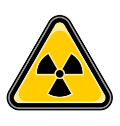 Ionising radiation sign triangular sticker vector