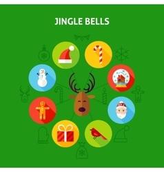 Jingle bells infographic concept vector