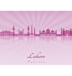 Lahore skyline in purple radiant orchid vector image vector image