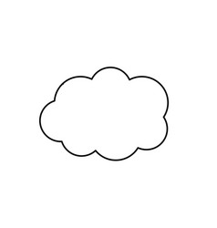 Line cute cloud weather design icon vector