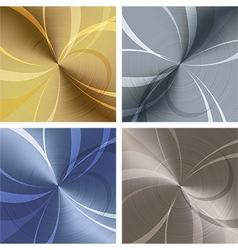 Metallic texture set vector