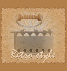 retro style poster old flatiron vector image vector image