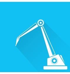 robotic arm symbol robot hand vector image vector image