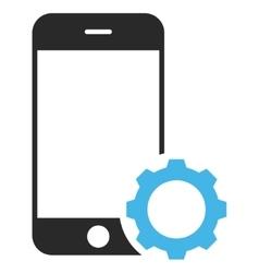 Smartphone setup gear eps icon vector