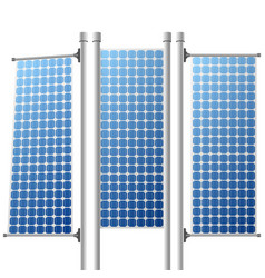 Solar panels renewable power sources set vector