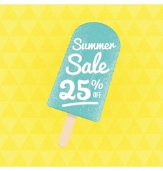 Summer sale 25 per cent off vector