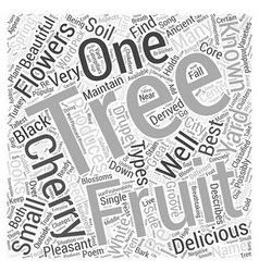 The many types of cherry trees word cloud concept vector