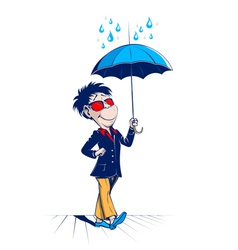 umbrella man vector image