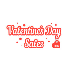 valentine day sales with hanging label vector image vector image