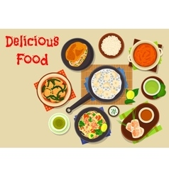 Vietnamese cuisine icon for asian food design vector image