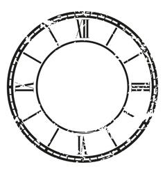 vintage clock vector image vector image