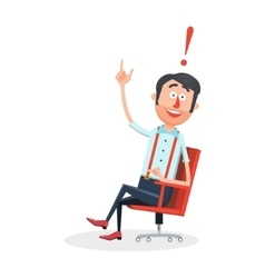 Happy man with new idea cartoon vector