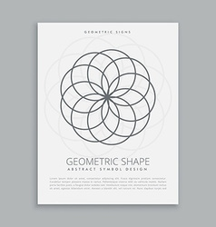 Circles geometric shapes vector