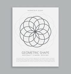 Circles geometric shapes vector