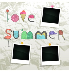 Love summer vector