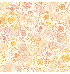 Warm flowers seamless pattern background vector