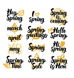 spring hand drawn quotes vector image