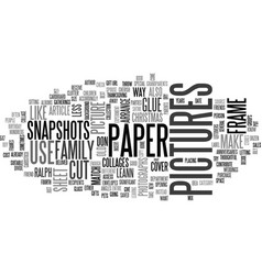 A new way to use old snapshots text word cloud vector