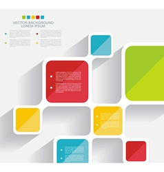 Brochure template design with cubes and squares vector