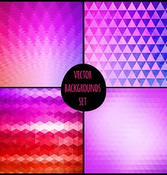 Set of four geometric patterns texture with vector