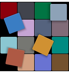 3d minimal colorful square background vector image vector image