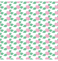 Floral pattern with roses on light background vector