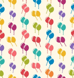 Seamless pattern colorful balloons for holiday vector