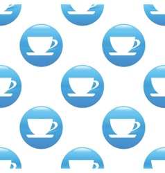 Cup sign pattern vector