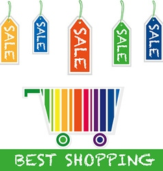 Shopping cart sale vector